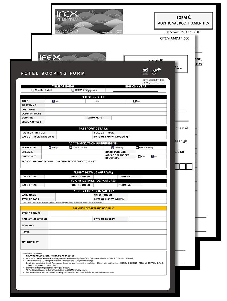 IFEX PH EXHIBITOR MATERIALS