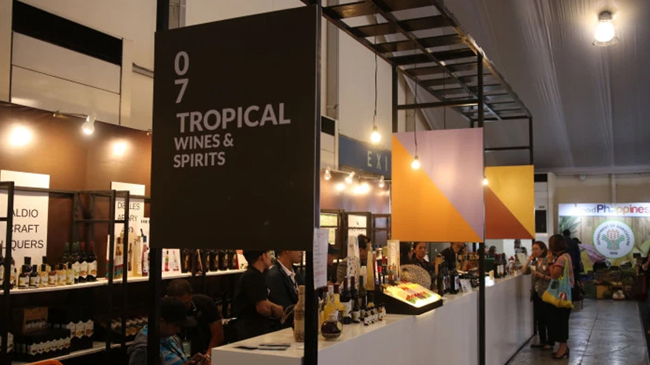 The Philippines' Tropical Wines and Spirits Pavilion presents unique alcoholic beverages in top food trade show